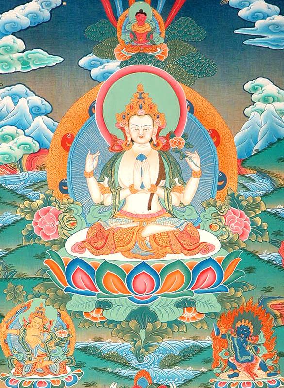 Méditation et sadhana de Chenrézi